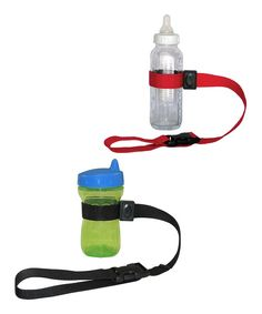 With a patented push-button buckle design, this useful device easily secures Baby's bottles and accessories to everything from strollers to high chairs and more. Keeping bottles free from germs and always on hand, it also serves a variety of functions around the home after cuties have outgrown it!