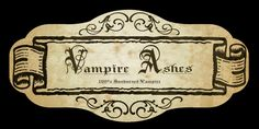 halloween labels | Name: Vampire Ashes potion lable.jpgViews: 626Size: 84.6 KB