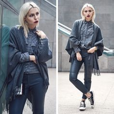 Get this look: http://lb.nu/look/7924356  More looks by Masha Sedgwick: http://lb.nu/masha_sedgwick  Items in this look:  Karl Lagerfeld Bag, Converse Shoes   #allgreyeverything #classic #edgy #minimal