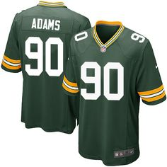 Men's Nike Green Bay Packers #90 Montravius Adams Game Green Team Color NFL Jersey