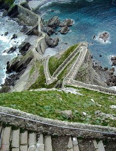 stairs above the sea aketx basque country spain