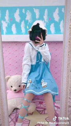 Ulzzang Korean Girl, Cute Korean Girl, Asian Girl, Harajuku Fashion, Kawaii Fashion, Lolita Fashion, Girl Outfits, Cute Outfits, Fashion Outfits