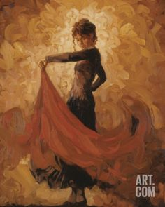 Flamenco I Art Print by Mark Spain at Art.com