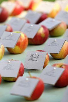 charming apple escort cards
