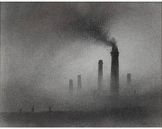 Chimneys By Trevor Grimshaw Diorama, Grey Wallpaper Iphone, Modern Paintings, English Artists, Industrial Revolution, Charcoal Drawing, Factories, Cityscapes, Street Photography