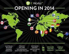 It Works está empezando operaciones en nuevos países y mercados emergentes. Con un Crecimiento 1565,3% anual en los 3 últimos años. Una de las empresas de  mayor crecimiento en USA. Facturación actual 456 Millones de USD al año. UNETE A ESTA GRAN OPORTUNIDAD http://msg.myitworks.com/