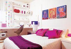 Decoração de quarto pequeno - http://www.euamodecoracao.com/quartos-pequenos-28-modelos-para-voce-se-inspirar/