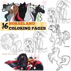 horseland coloring pages Bing Images Kids Crafts Pinterest