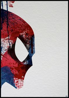 Superheroes Spiderman Paint Splatter