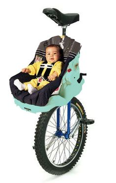 Love unicycling but tired of leaving your infant child unattended while your ride? Now, there's a solution! Dubé Juggling is proud to announce our newest product, the Uni-Baby Carrier!