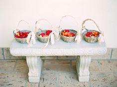 flower girl baskets for a bohemian wedding - Melissa Jill Photography