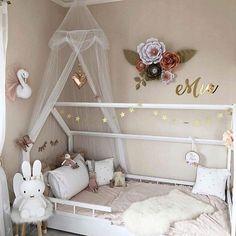 Nouveau Popsicle Design Lit Baldaquin-Blanc /& Rose Canopy Accessoires Chambre