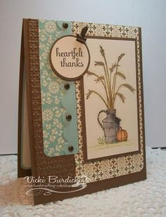 "by Vicki Burdick, It's A Stamp Thing **** SU ""Always Thankful"", retired 2011 Holiday Mini."