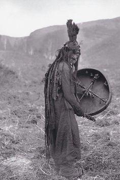 Mongolian shaman, ca. 1909.