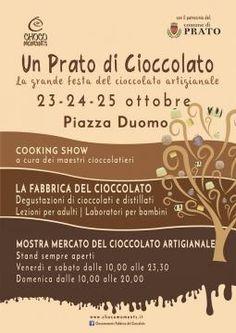 Degustazioni, cooking show e corsi, a base di cioccolata, dal 23 al 25 ottobre in Piazza del Duomo a Prato