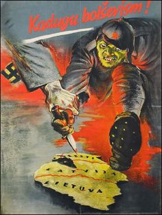 Estonia - Propaganda Posters During World War II ~Via Eric Schmidt Nazi Propaganda, Ww2 Posters, Ad Art, World War Ii, Vintage Posters, Wwii, Illustration, Historic Posters, Pigs