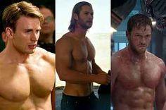 If You Morph Chris Pratt And Chris Evans It Looks Exactly Like Chris Hemsworth - Damn it Marvel, what are you hiding?!