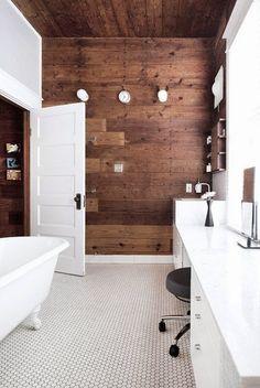 Jarrah Jungle: For The Laundry - Blue Wash Wood Wallpaper