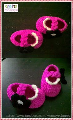 Crafts by Momaye: Crochet Braided Strap Doll Booties