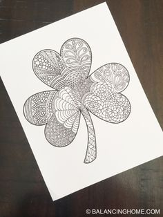 st patricks day coloring pages St Patricks Day Shamrock