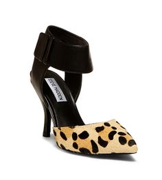 c059676a6678 Pointed leopard pump with a wide ankle strap for a striking effect. Steve  Madden Pumps
