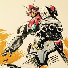 コンバトラーV 西川伸司 Combattler V, Captain Marvel Shazam, Japanese Robot, Final Fantasy Art, Mecha Anime, Super Robot, Anime Shows, Comic Art, Anime Art