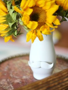 Hi Sugarplum | Jonathan Adler inspired Mustache Vase