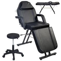 Adjustable Spa Facial Tattoo Massage Bed Chair Beauty Equipment Salon Black New Massage Bed, Massage Table, Good Massage, Face In Hole, Facial Tattoos, Beauty Salon Equipment, Medical Dental, Beauty Hacks Video, Shop Plans