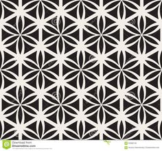 Vector Seamless Black And White Flower Of Life Sacred Geometry ...