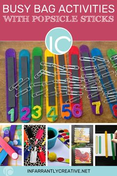 I have rounded up several busy bag activities that all use popsicle sticks. Popsicle sticks can be found pretty much anywhere and cost pennies, and these projects are all super simple to make. #busybags #toddler #toddlerlife #tutorial Popsicle Stick Crafts, Popsicle Sticks, Craft Stick Crafts, Fun Crafts, Crafts For Kids, Sewing Tutorials, Sewing Projects, Knock Off Decor, Toddler Busy Bags