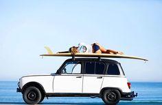 Surfing Renault 4 in Biarritz