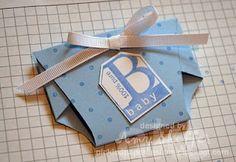 Party Favor:  Paper Diaper Pattern