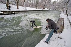 Snow surfing...