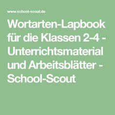Wortarten-Lapbook für die Klassen 2-4 - Unterrichtsmaterial und Arbeitsblätter - School-Scout