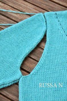 вязание проймы и оката рукава