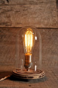 The Original Bell Jar Table Lamp Includes by SouthernLightsTN, $135.00
