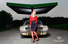 "Sophie Lee Galore for the ""Girls & legendary US-Cars"" 2016 calendar by Carlos Kella / SWAY Books. Limited and numbered to 2016 pieces. Get one of the last pieces: www.sway-books.de"