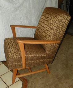 Oak Mid Century Rocker / Rocking Chair by stickyard on Etsy, $399.00
