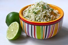 Cilantro and Lime Rice (rice cooker recipe) (Careful not to use too much chicken stock, too wet last time)