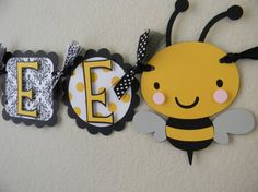 Bumble Bee Baby Shower Welcome BaBEE banner by sweetheartpartyshop, $30.00