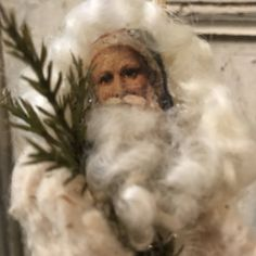 Santa Claus hand made using Antique findings, Saint Nicholas, St. Nick, Kris Kringle, Pelznickel. - $27.00 USD
