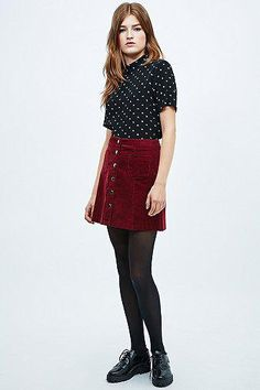 Red Skirt by Urban Outfitters #skirt #women #covetme #cooperativebyurbanoutfitters #red #cooperative