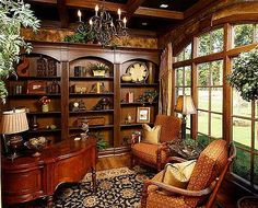 French Study Room | Plan W54010LK: French Country, European, Corner Lot, Photo Gallery ...
