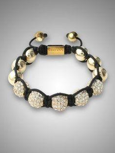 Nialaya Womens Crystal Bracelet - Gold by Nialaya, http://www.amazon.com/dp/B007Z3166M/ref=cm_sw_r_pi_dp_ooxPqb1DX3Z0Z