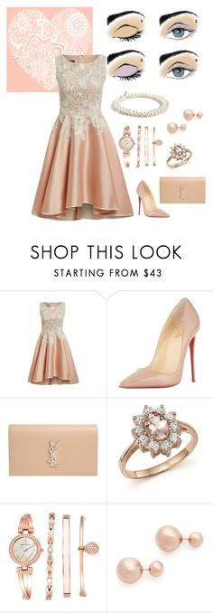 Summer 2016 - Pale Pink & White Lace by farbundstil-christine-becker on Polyvore featuring Mode, Christian Louboutin, Yves Saint Laurent, Bloomingdale's, J.Crew, Anne Klein, Shashi and Mary Kay