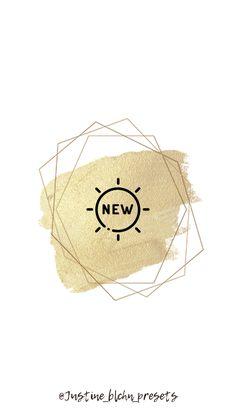 Logo Instagram, Instagram Symbols, Instagram Story Ideas, Free Instagram, Gold Highlights, Story Highlights, Violette Highlights, Presets Lightroom, Door Hanger Template