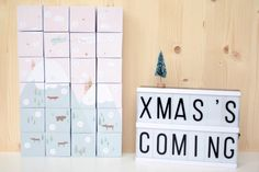 DIY : Calendrier de l'Avent à imprimer. 24 jolies boite à imprimer et un poster bonus en cadeau