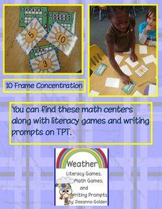 Golden Gang Kindergarten: Weather Math Centers