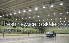 Yep, this is the best! Well, at least until you hit one of the rough spots left by the Zamboni tracks.