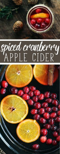 You are going to fall in love with the holiday all over again. Warm + cozy Spiced Cranberry Apple Cider. Sweet, tart, spiced and warm. #Christmas #AppleCider via @Buy This Cook That